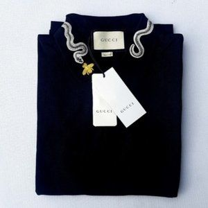 Gucci Men Polo Shirt Black Large